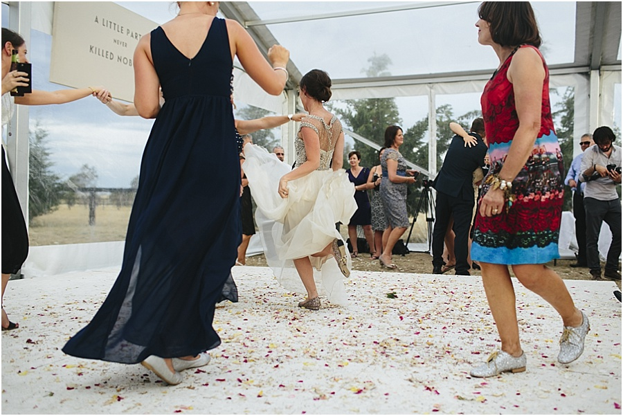 Dancing up a storm at Vintage Farm wedding